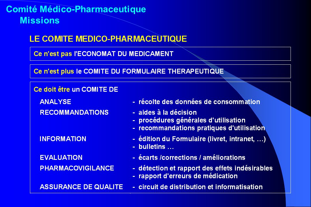 Comité Médico-Pharmaceutique