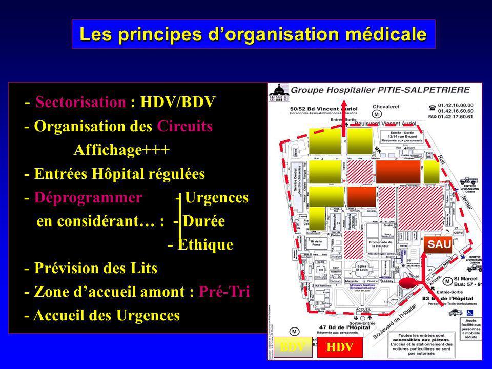 Les principes d'organisation médicale