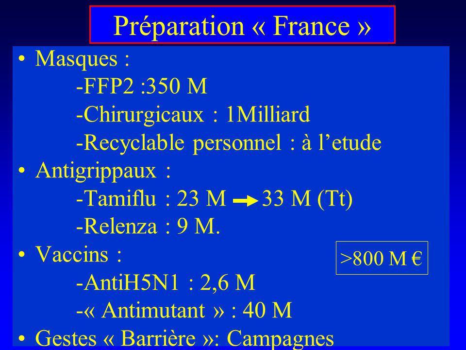 Préparation « France » Masques : -FFP2 :350 M