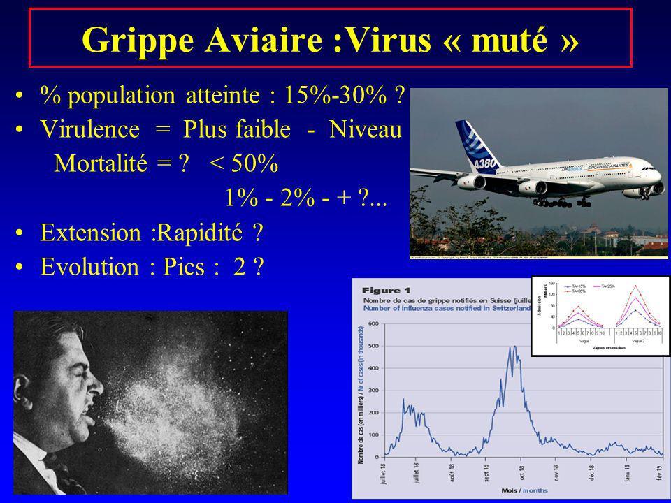 Grippe Aviaire :Virus « muté »