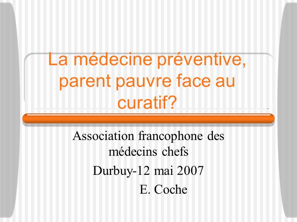 La médecine préventive, parent pauvre face au curatif