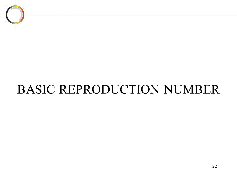 BASIC REPRODUCTION NUMBER