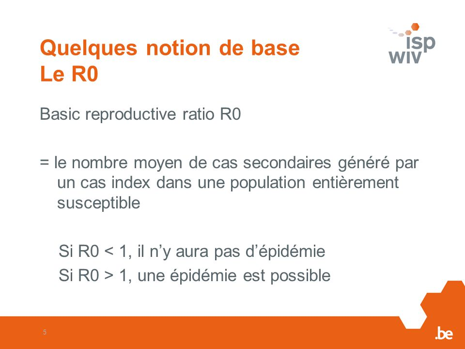 Quelques notion de base Le R0