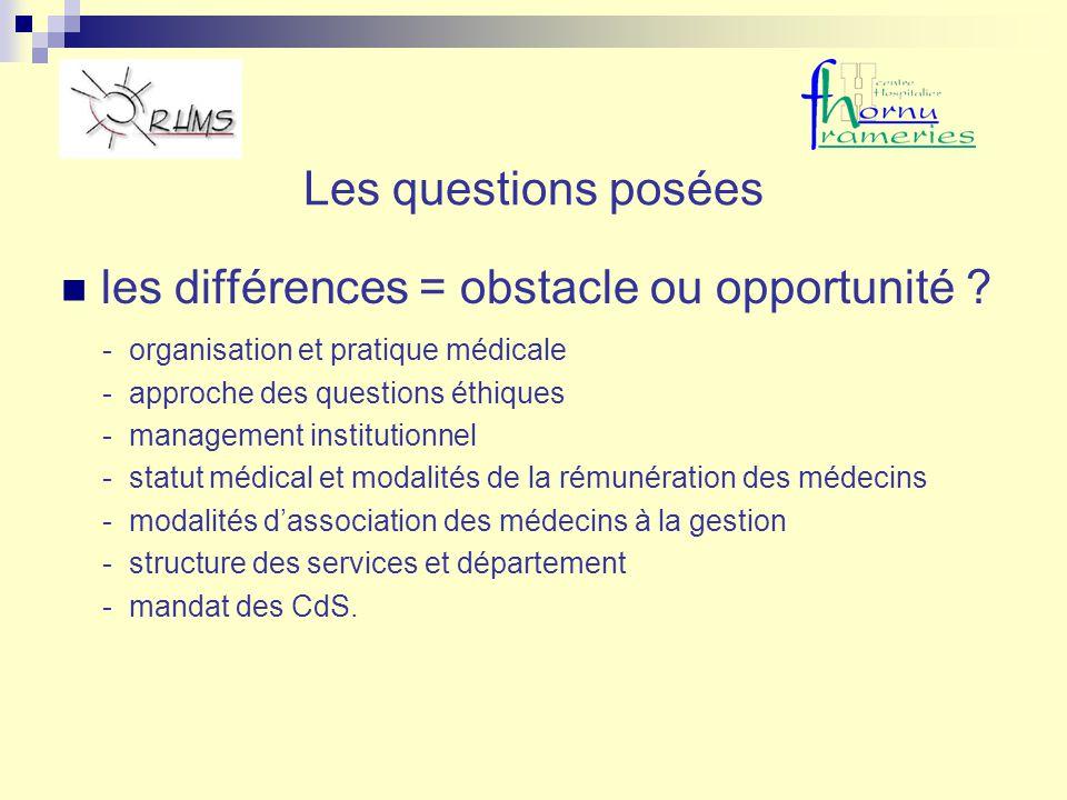 les différences = obstacle ou opportunité