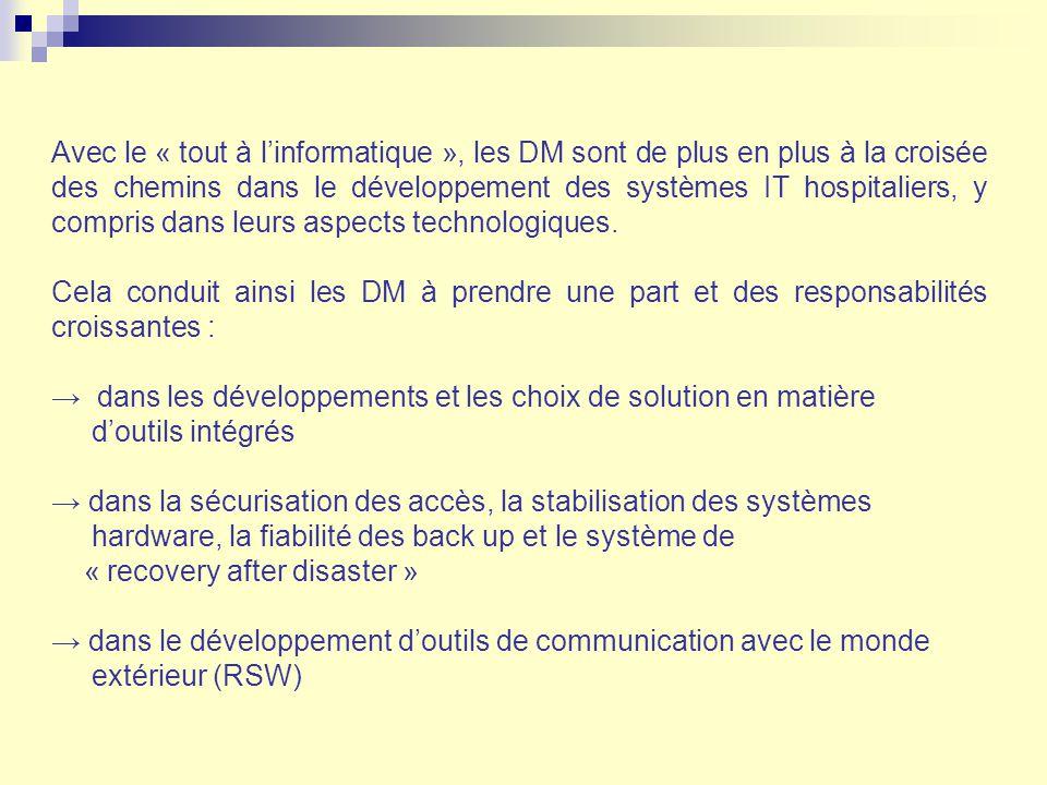 Avec le « tout à l'informatique », les DM sont de plus en plus à la croisée des chemins dans le développement des systèmes IT hospitaliers, y compris dans leurs aspects technologiques.