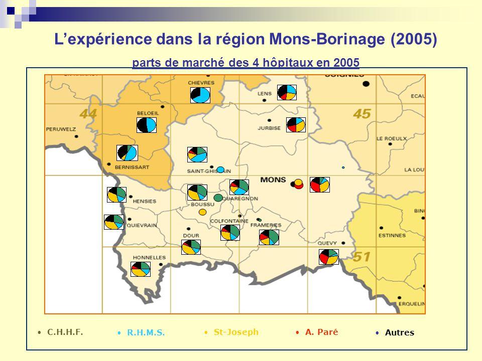 L'expérience dans la région Mons-Borinage (2005)