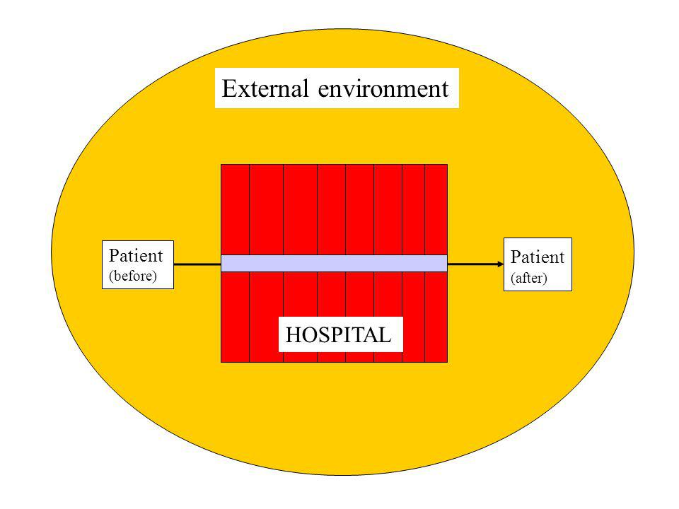 External environment Patient (before) Patient (after) HOSPITAL