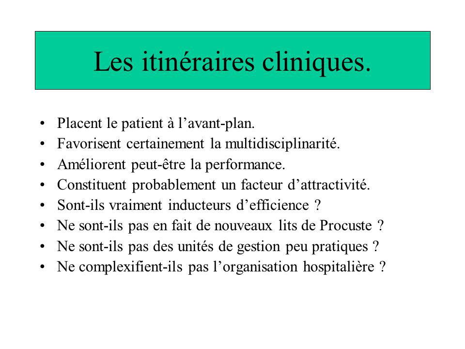 Les itinéraires cliniques.