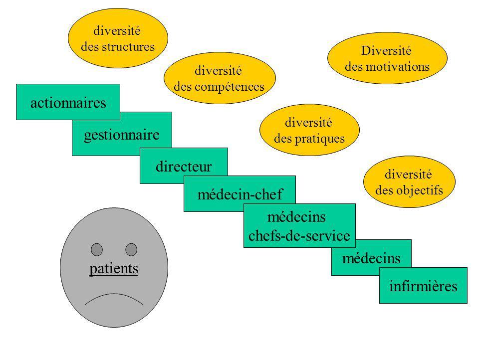 actionnaires gestionnaire directeur médecin-chef médecins
