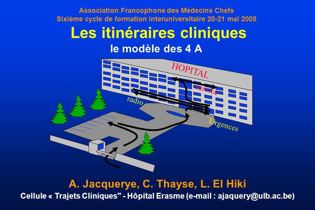A. Jacquerye, C. Thayse, L. El Hiki