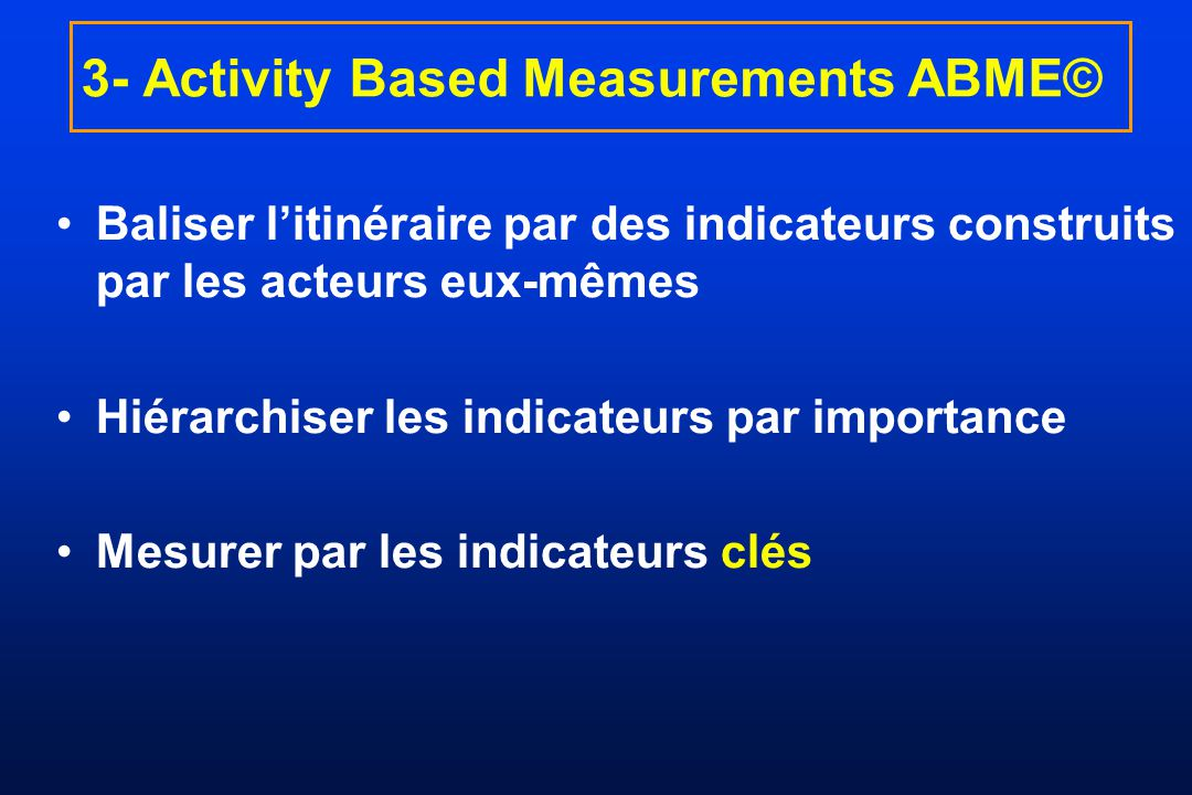 3- Activity Based Measurements ABME©