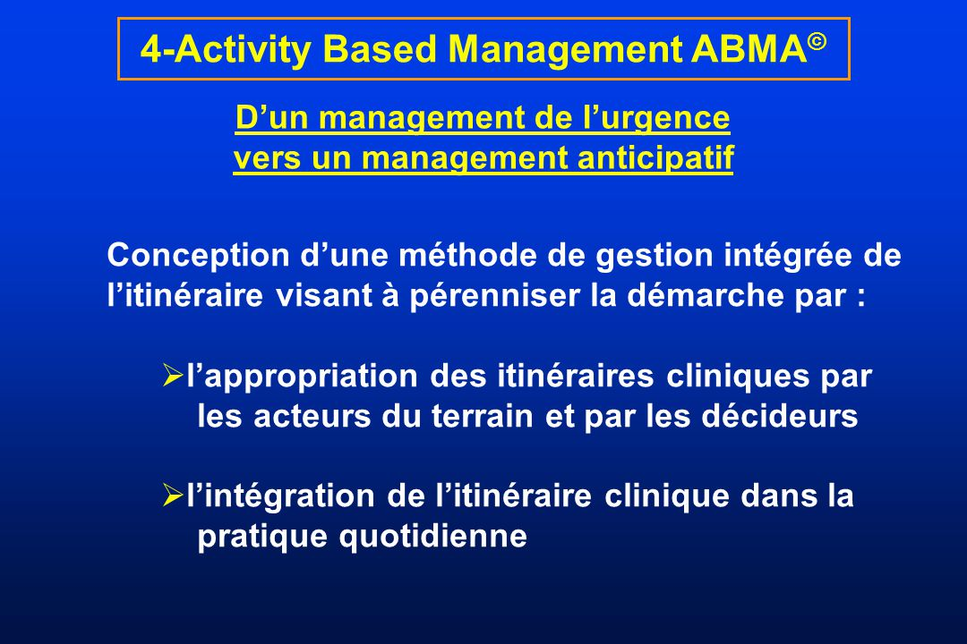 4-Activity Based Management ABMA©