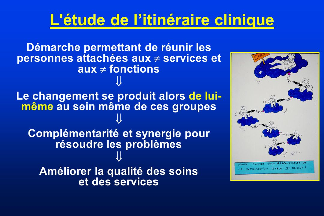 L étude de l'itinéraire clinique