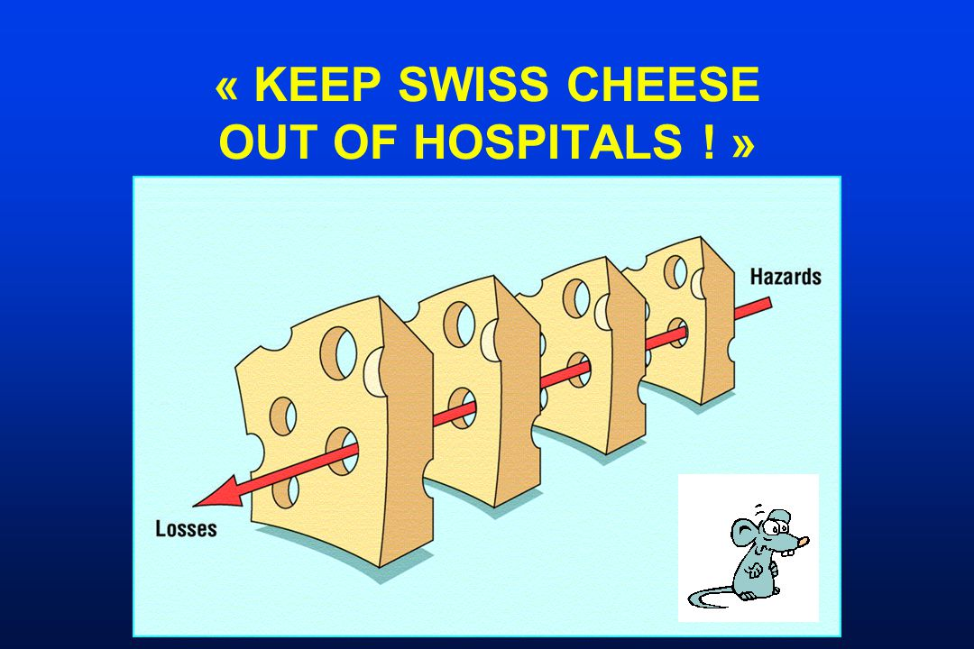 « KEEP SWISS CHEESE OUT OF HOSPITALS ! »