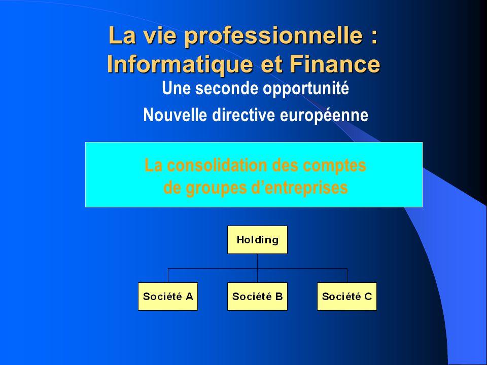 La vie professionnelle : Informatique et Finance