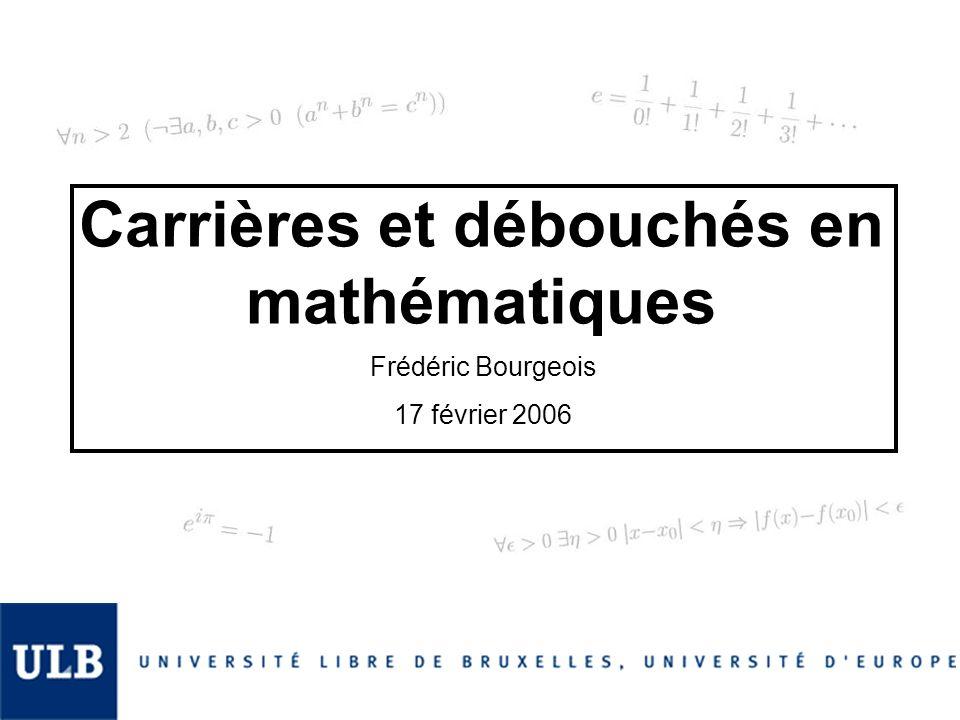 Carrières et débouchés en mathématiques