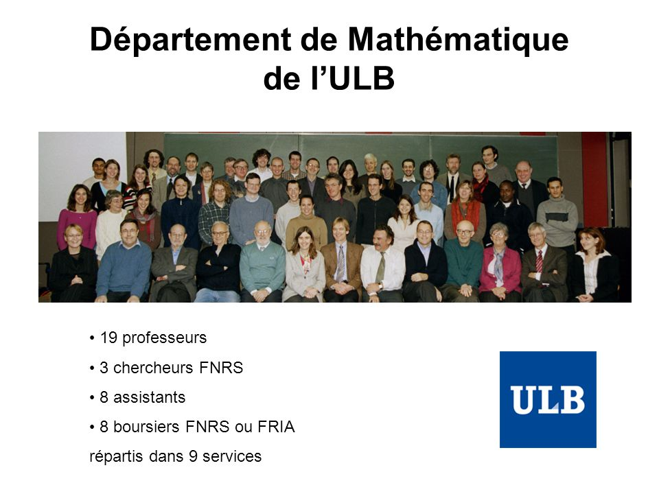 Département de Mathématique de l'ULB