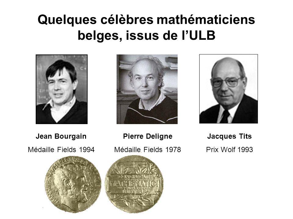 Quelques célèbres mathématiciens belges, issus de l'ULB