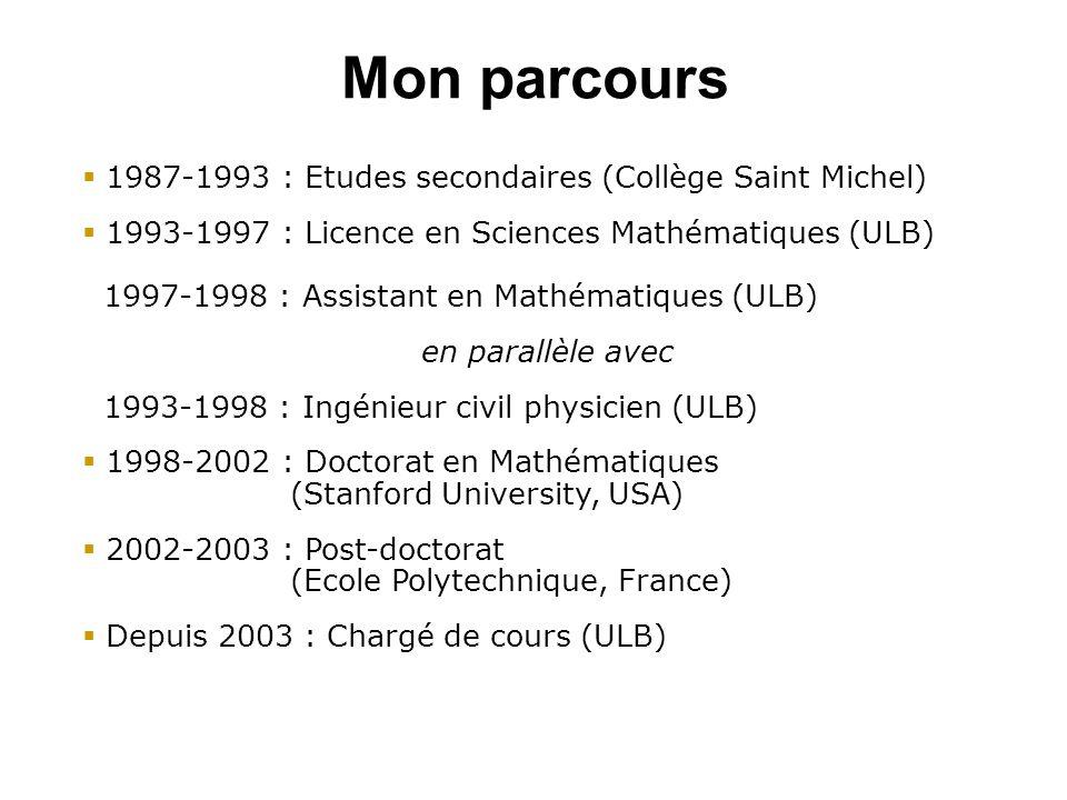 Mon parcours 1987-1993 : Etudes secondaires (Collège Saint Michel)