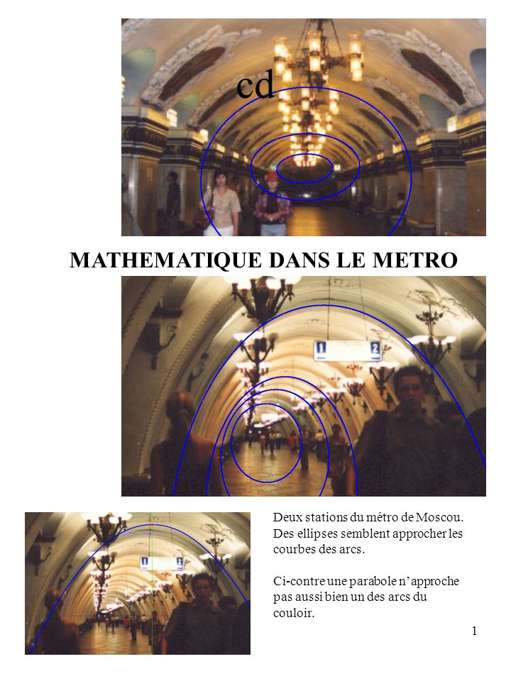 cd MATHEMATIQUE DANS LE METRO Deux stations du métro de Moscou.
