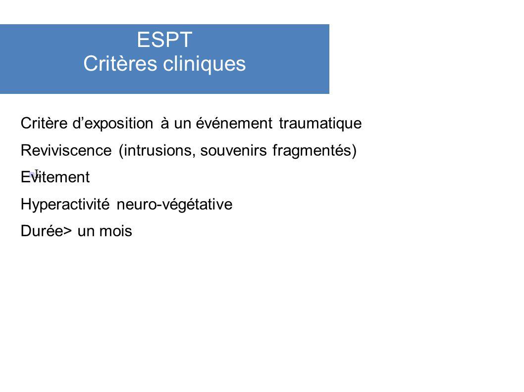 ESPT Critères cliniques