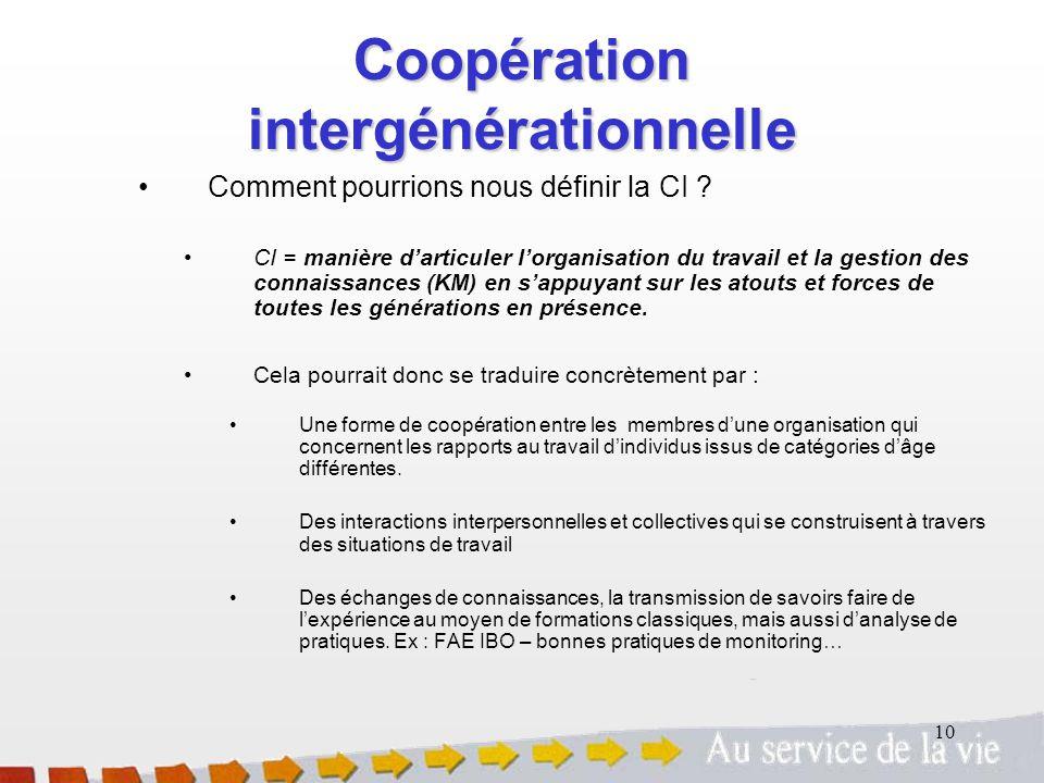 Coopération intergénérationnelle