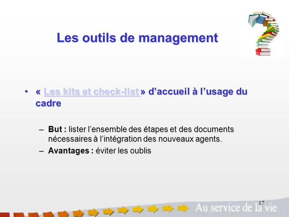 Les outils de management