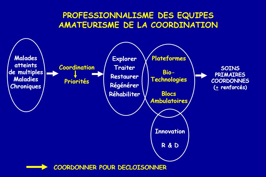 PROFESSIONNALISME DES EQUIPES AMATEURISME DE LA COORDINATION