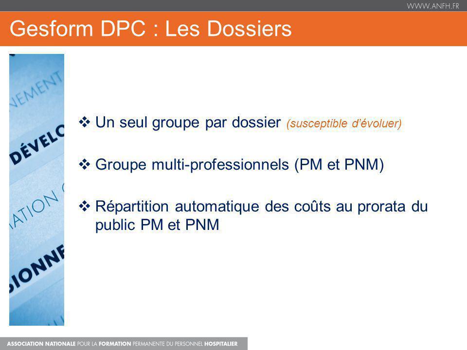 Gesform DPC : Les Dossiers