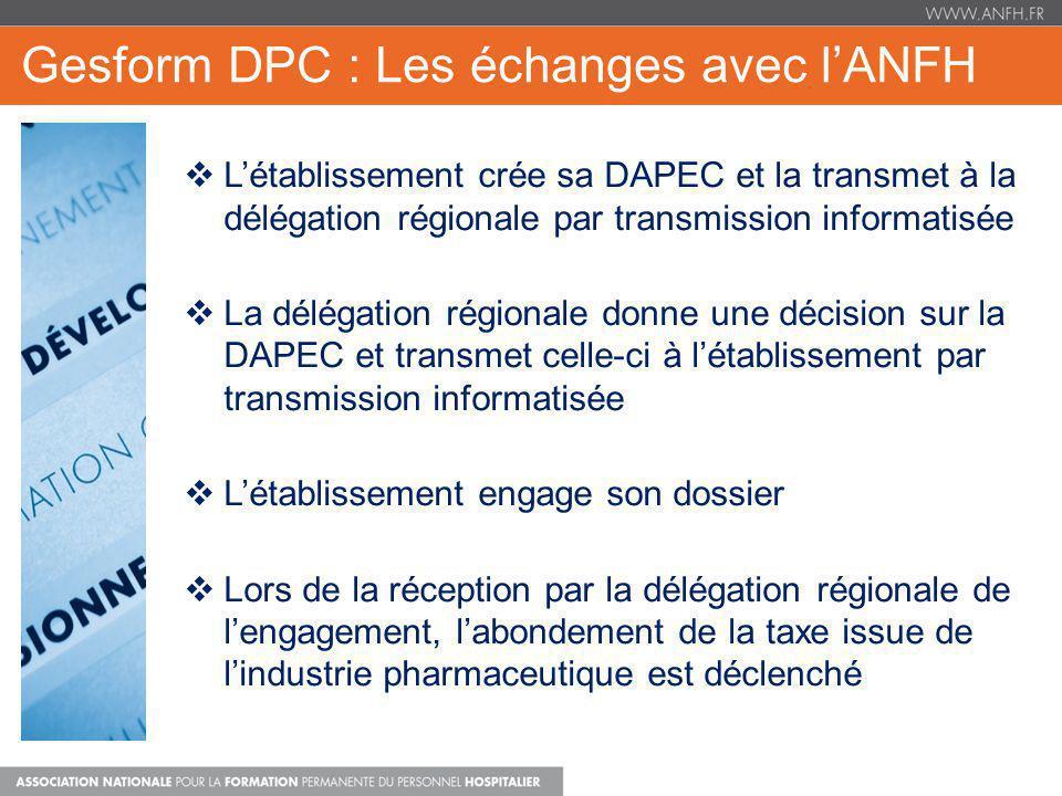 Gesform DPC : Les échanges avec l'ANFH