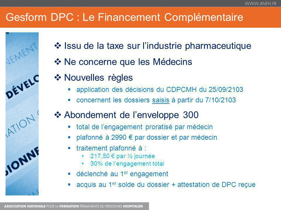 Gesform DPC : Le Financement Complémentaire