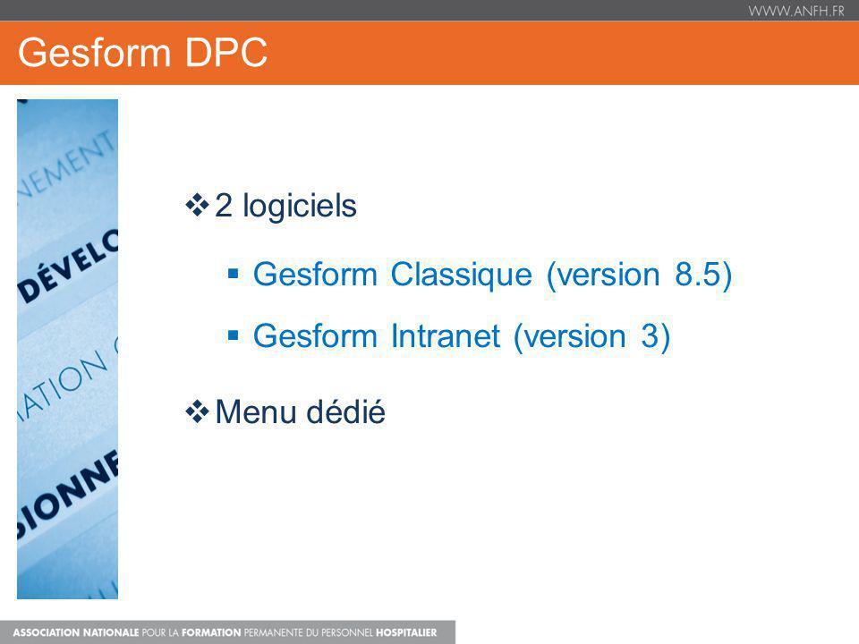 Gesform DPC 2 logiciels Gesform Classique (version 8.5)
