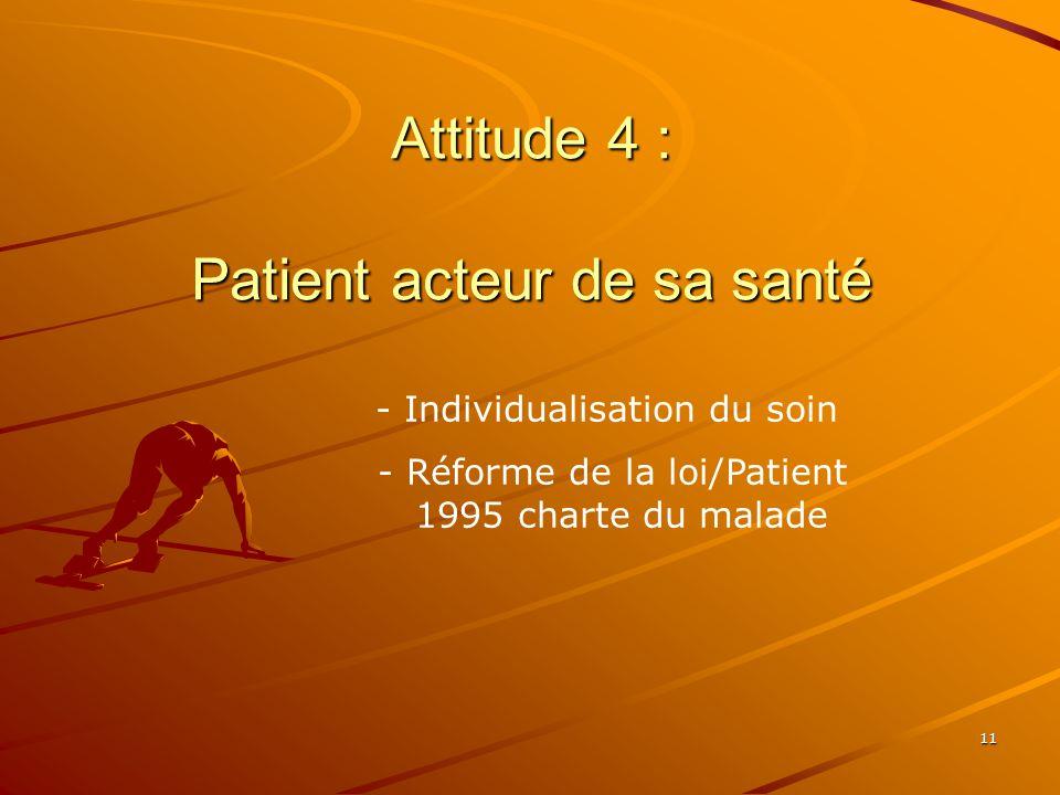 Attitude 4 : Patient acteur de sa santé