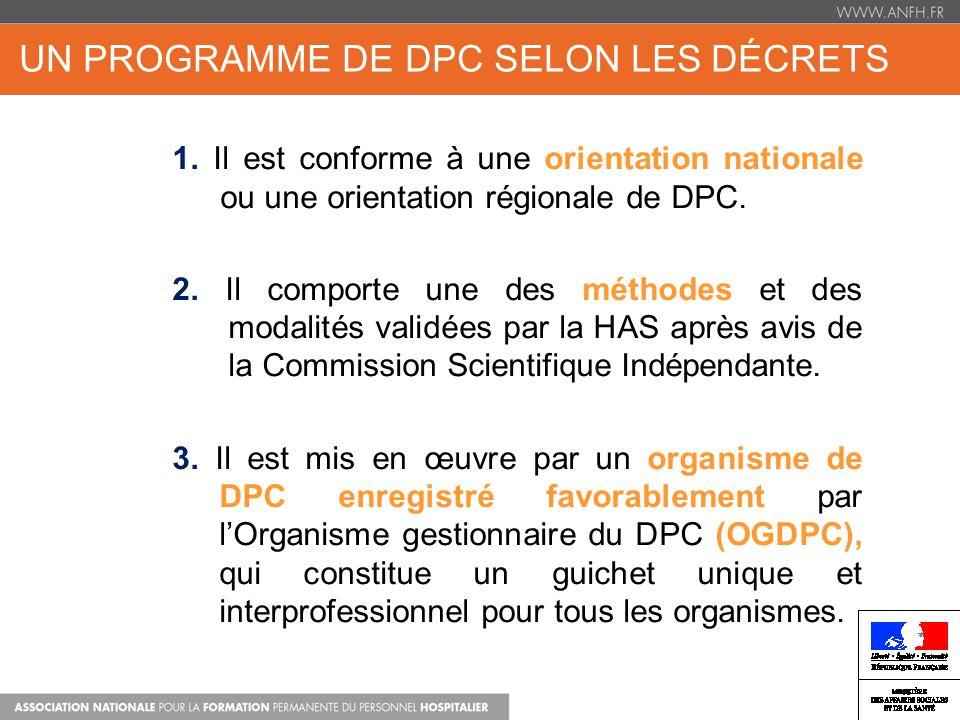 Un programme de DPC selon les décrets