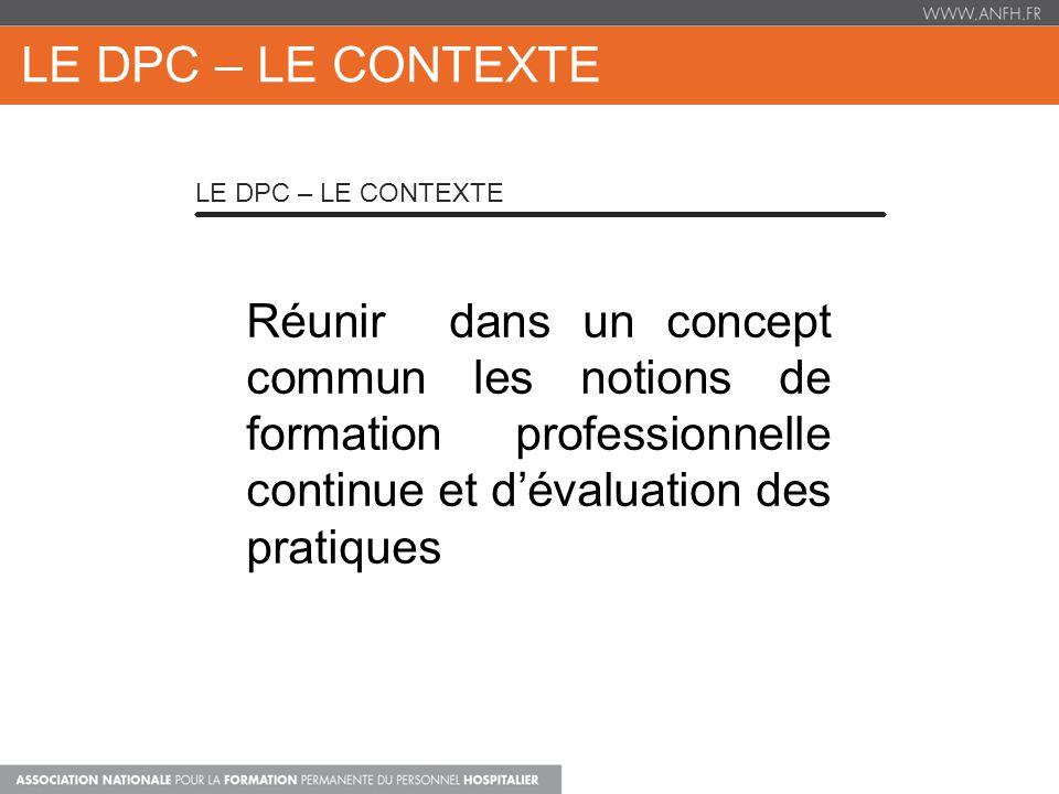LE DPC – Le Contexte Le DPC – Le Contexte.
