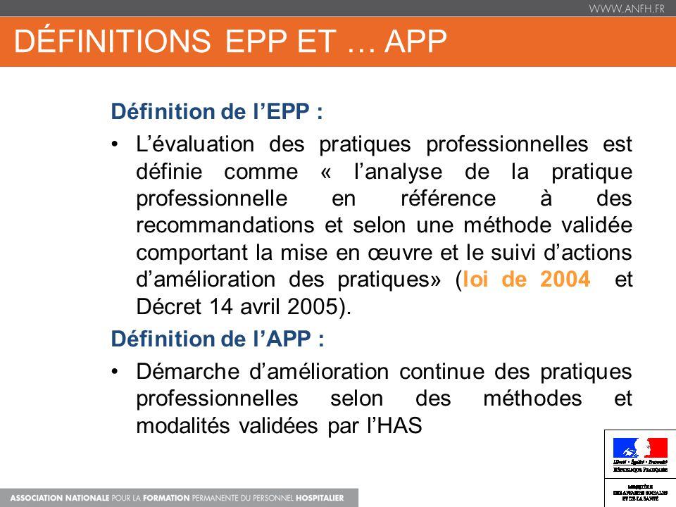 Définitions EPP et … APP