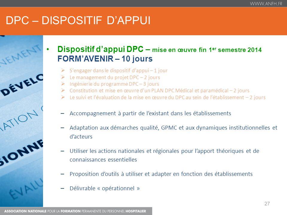 DPC – DISPOSITIF D'APPUI