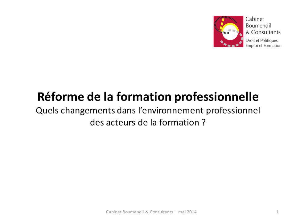 Cabinet Boumendil & Consultants – mai 2014