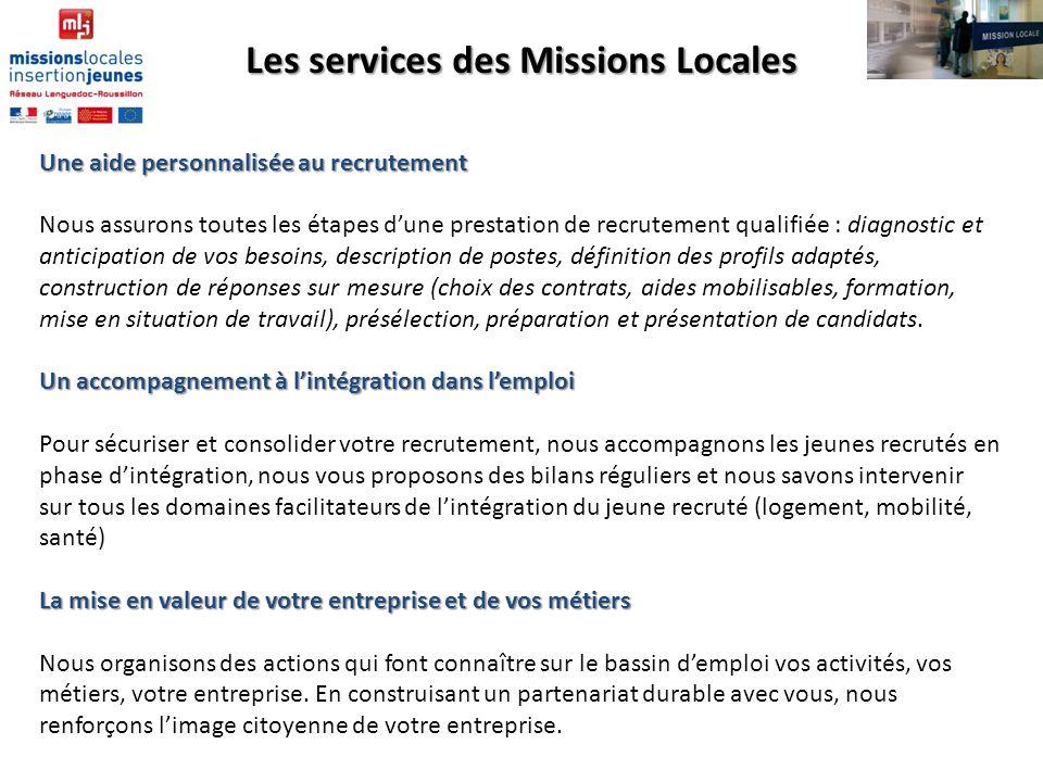 Les services des Missions Locales