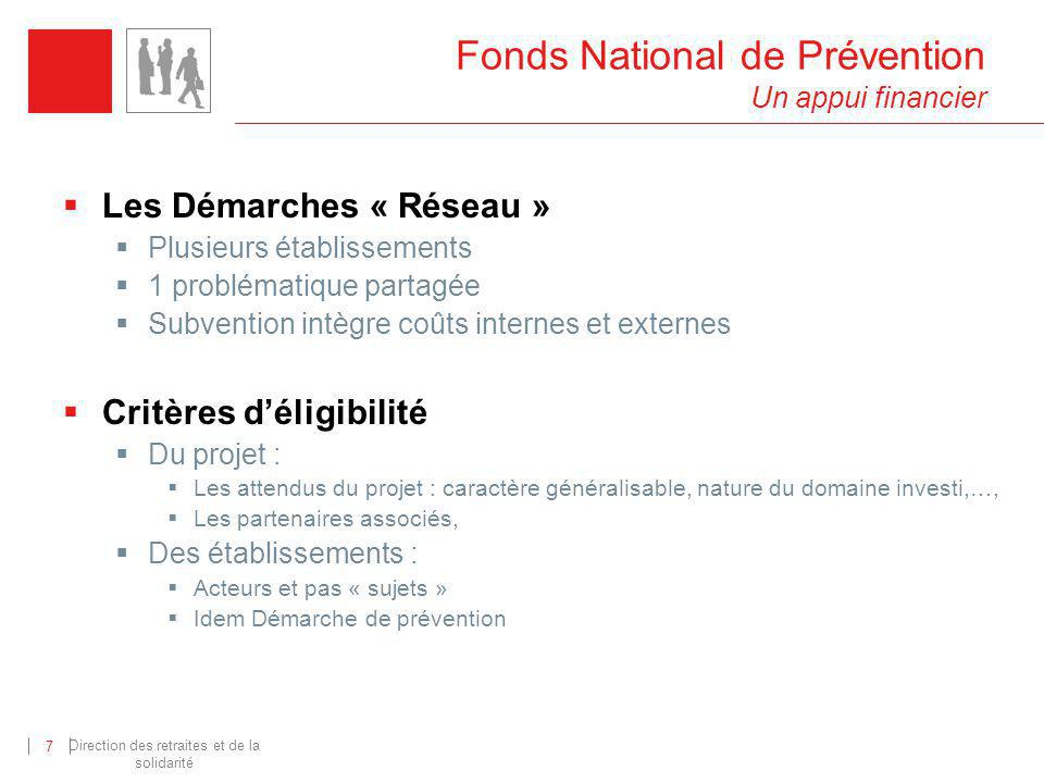 Fonds National de Prévention Un appui financier