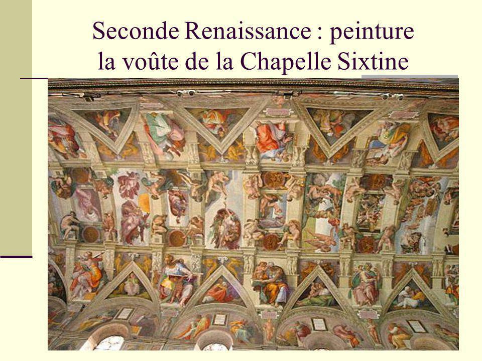 Seconde Renaissance : peinture la voûte de la Chapelle Sixtine