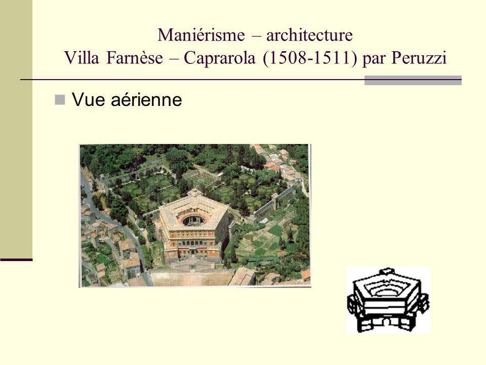 Maniérisme – architecture Villa Farnèse – Caprarola (1508-1511) par Peruzzi