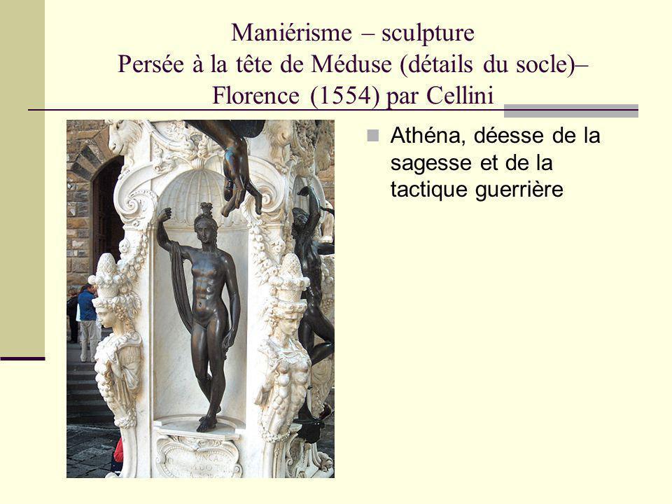 Maniérisme – sculpture Persée à la tête de Méduse (détails du socle)– Florence (1554) par Cellini