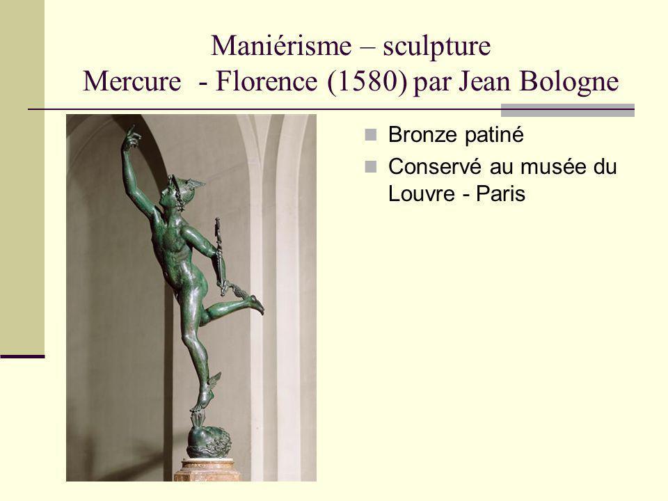 Maniérisme – sculpture Mercure - Florence (1580) par Jean Bologne