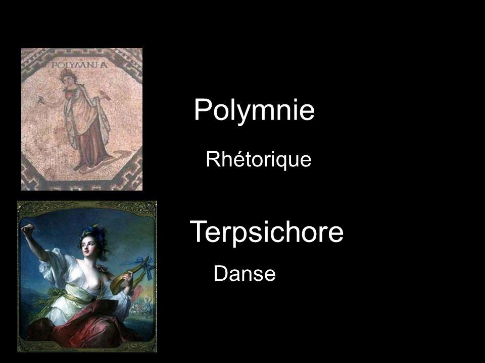 Polymnie Rhétorique Terpsichore Danse