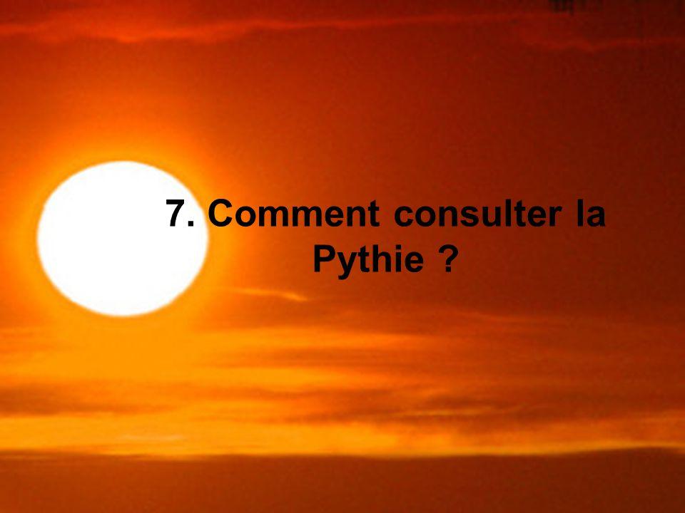 7. Comment consulter la Pythie