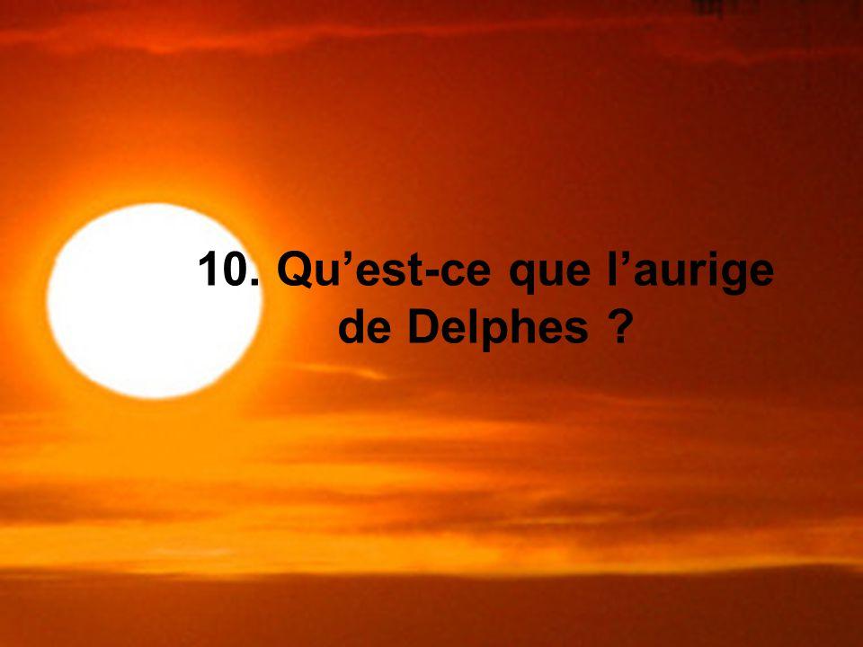 10. Qu'est-ce que l'aurige de Delphes