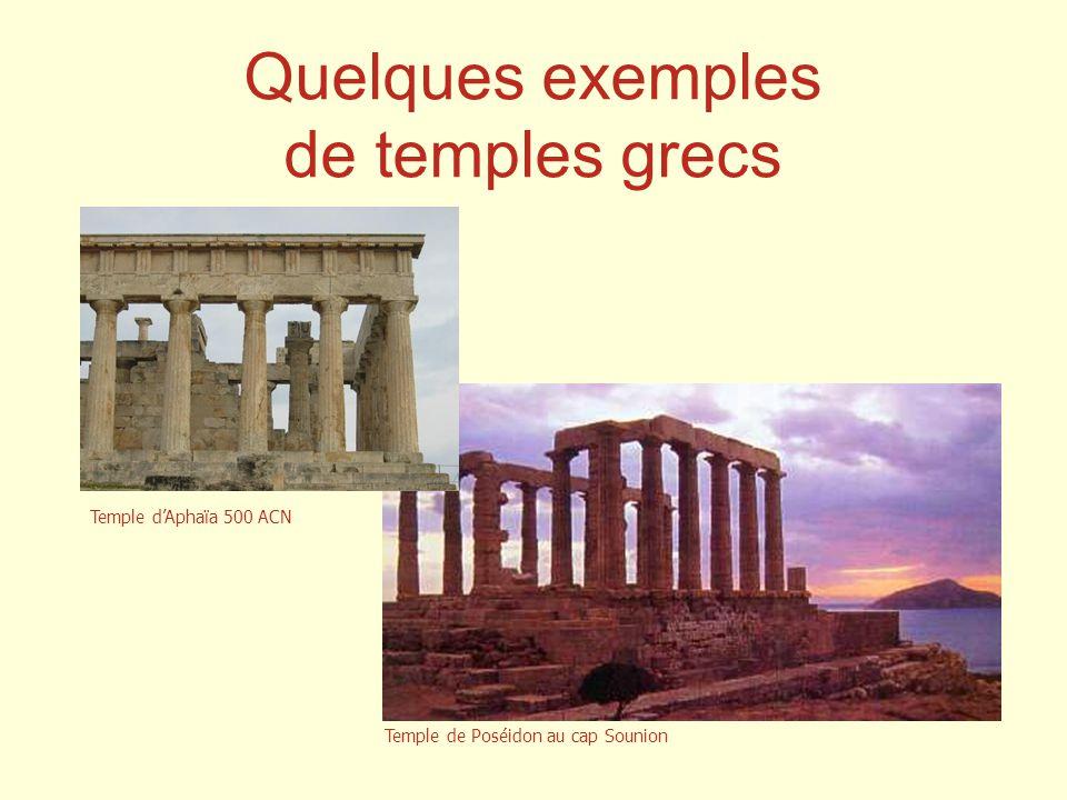 Quelques exemples de temples grecs Temple d'Aphaïa 500 ACN
