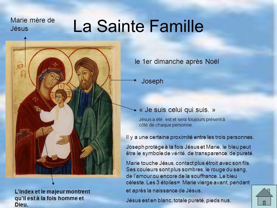 La Sainte Famille Marie mère de Jésus le 1er dimanche après Noël