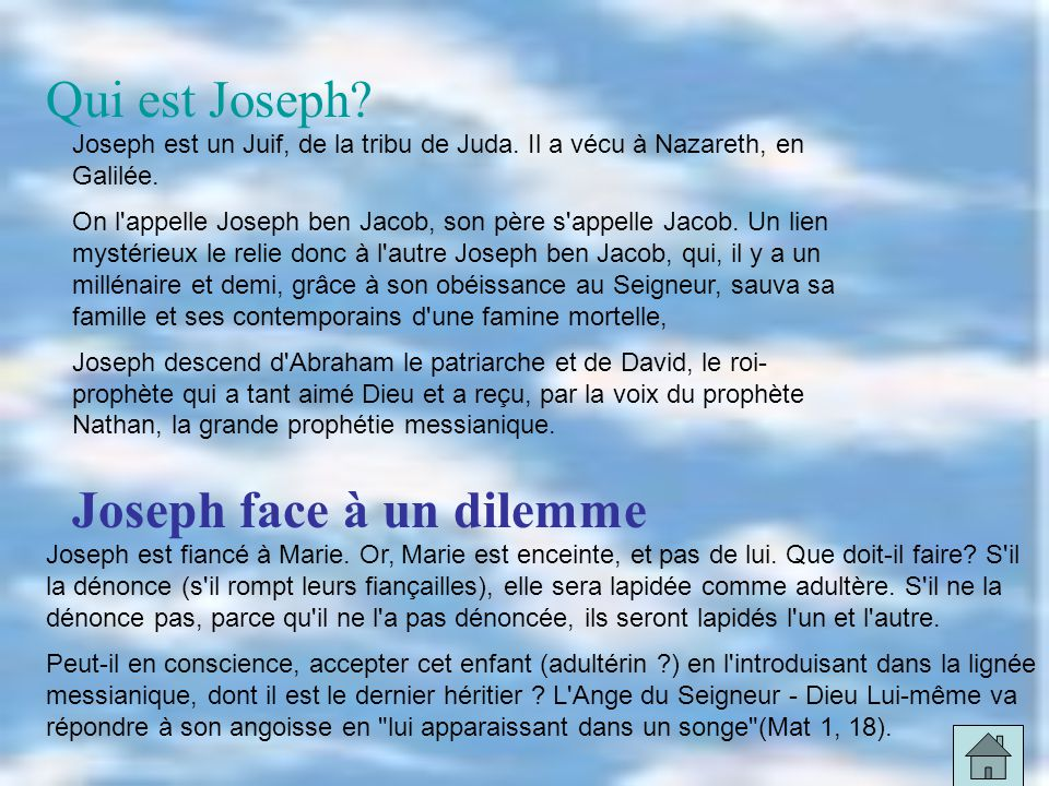 Joseph face à un dilemme